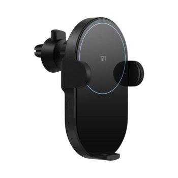 Безжично зарядно устройство Xiaomi Mi 20W Wireless Car Charger, 5V/3A 9V/2A 12V/2A, USB Type C, с адаптер (автомобилна запалка към 2x USB), черно image