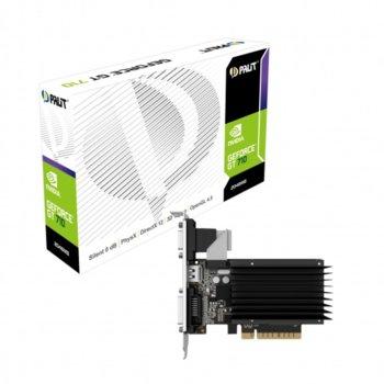 Видео карта nVidia GT 710, 2GB, Palit, PCI-E 2.0, DDR3, 64bit, DVI, HDMI image