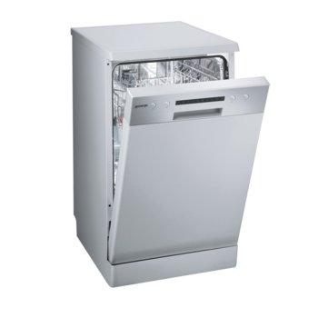 Съдомиялна Gorenje GS 52115 X, клас A++, 9 комплекта, 6 програми, 5 температури, самопочистващ се филтър, аква стоп, QuickIntensive, сива image