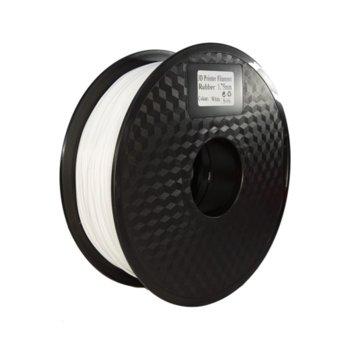 Консуматив за 3D принтер Acccreate, Flexible PLA, 1.75mm, бял, 0.5kg image