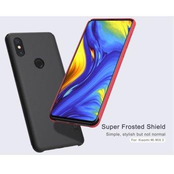 Калъф за Xiaomi Mi Mix 3, пластмасов, Nillkin Super, удароустойчив, черен image