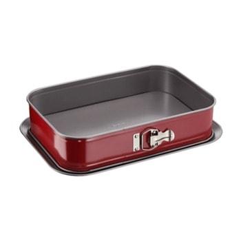 Форма за торта Tefal Spring, незалепващо покритие, 36x24 см, червен image