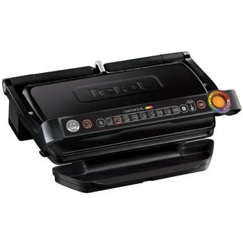 Грил Tefal Optigrill+ XL GC722834, регулируем термостат, подвижна тава за отцеждане на сокове, 800 см² повърхност за печене, черен image
