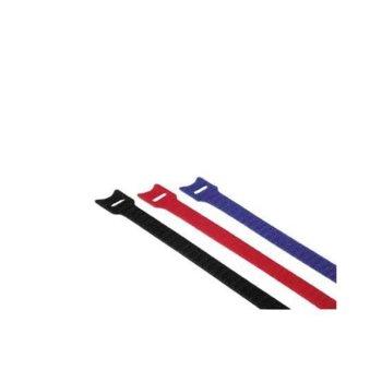 Самозалепващи кабелни връзки с ухо, 12 броя, 11 x 145 mm image