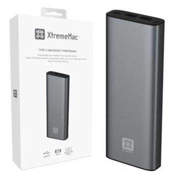 Външна батерия/power bank XtremeMac MACBOOK POWER BANK, 20100mAh - USB-C / USB-A - Space Grey image