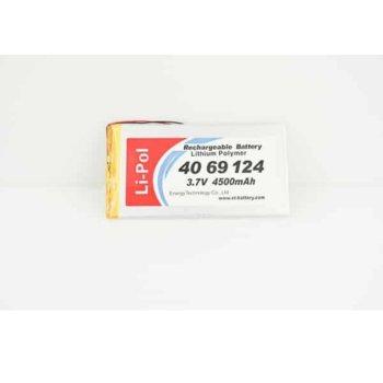 Литиева батерия LP4069124-PCM, 3.7V, 4700mAh, Li-polymer, 1бр., PCM защита image