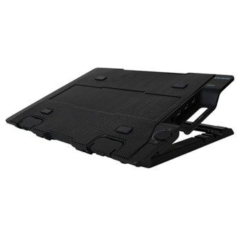"""Охлаждаща поставка за лаптоп Zalman NS2000, за лаптопи до 17"""" (43.18 cm), черна image"""