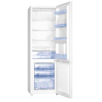 Хладилник с фризер Electra EBR-250DIS/ED, клас A+, 260 л. общ обем, свободностоящ, 236 kWh/годишно разход на енергия, диспенсер за вода, бял image