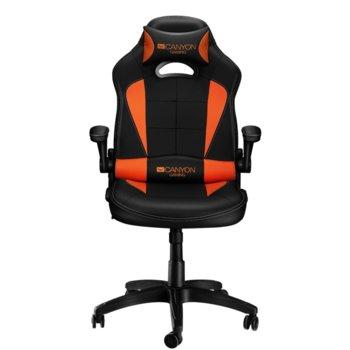 Геймърски стол Canyon Vigil CND-SGCH2, до 130 кг., черен/оранжев image