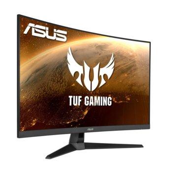"""Монитор Asus TUF gaming VG32VQ1B, 31.5"""" (80.01 cm) VA извит панел, 165 Hz, WQHD, 1ms, 3000:1, 250 cd/m2, 1x Display Port, 2x HDMI image"""