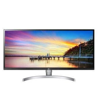 """Монитор LG 34WK650-W, 34"""" (86.36 cm) IPS панел, UWHD, 5 ms, 1000:1, 240cd/m2, DisplayPort, HDMI, черен/сребрист image"""