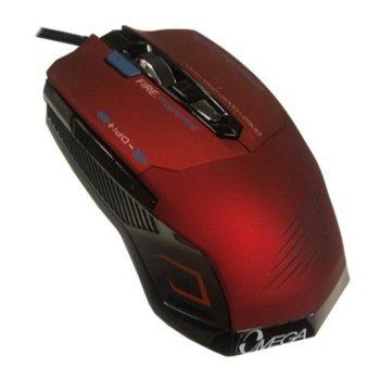 Мишка Omega 7D 293 GAMING, оптична, 2500 DPI, USB, червена image