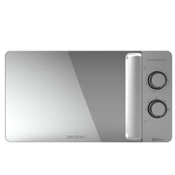 Микровълнова фурна Cecotec ProClean 3060 Mirror, механично управление, 700W, 20L обем, 6 степени на мощност, бял image