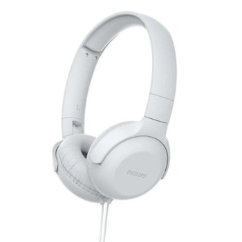 Слушалки Philips TAUH201WT, микрофон, бели image