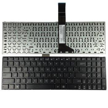 Клавиатура за лаптоп ASUS съвместима със серия X550, black, without frame, UK, (big enter)  image