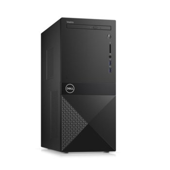 Настолен компютър Dell Vostro 3671 MT (N510VD3671EMEA01_R2005_22NM), четириядрен Coffee Lake Intel Core i3-9100 3.6/4.2 GHz, 8GB DDR4, 1TB HDD, 2x USB 3.1, клавиатура и мишка, Windows 10 Pro image