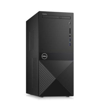 Настолен компютър Dell Vostro 3671 MT (N510VD3671EMEA01_R2005_22NM), четириядрен Coffee Lake Intel Core i3-9100 3.6/4.2 GHz, 8GB DDR4, 1TB HDD, 2x USB 3.1, клавиатура и мишка, Windows 10 Pro image