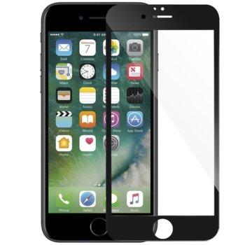Протектор от закалено стъкло /Tempered Glass/, за Apple iPhone 6 plus, 5D, черна рамка image