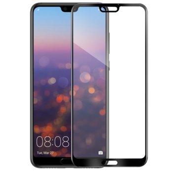 Протектор от закалено стъкло /Tempered Glass/, за Huawei Mate P20 Pro, 5D, черна рамка image