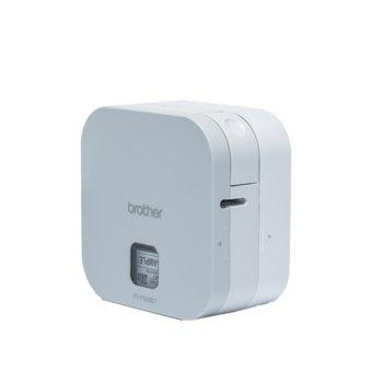 Етикетен принтер Brother P-touch CUBE PT-P300BT, термо-трансферен печат, Bluetooth, 23 шрифта, бял image