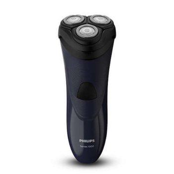 Самобръсначка Philips Shaver series 1000 S1100/04, за сухо бръснене, Подвижни глави в 4 посоки, Система ножчета CloseCut, черна image