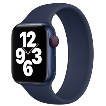 Каишка Sdesign Silicone SoloLoop Band (SDLOOP-DB-40), силиконова, за смарт часовник Apple Watch 38/40mm, тъмносиня image
