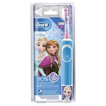Ел. четка за зъби Oral B Frozen 3+ D100, до 8 дни живот на батерията, синя image