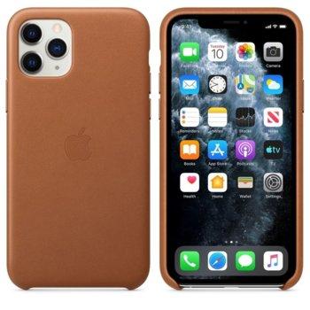Калъф за Apple iPhone 11 Pro, естествена кожа, Apple Leather Case MWYD2ZM/A, кафяв image