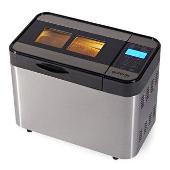 Хлебопекарна Gorenje BM 1400 E, 815W, 12 програми, aвтоматично набухване на тесто, функция за поддържане на топлината, сребриста image