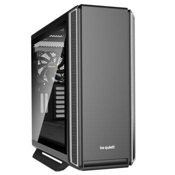 Кутия Be Quiet Silent Base 801 Window Silver, E-ATX/ATX/M-ATX/Mini-ITX, 2x USB 3.0, прозорец от закалено стъкло, черна, без захранване image