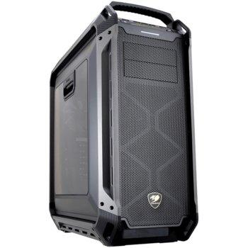 Кутия Cougar Gaming Panzer MAX, Mini ITX/Micro ATX/ATX/ CEB/L-ATX/E-ATX, 2x USB 3.0, страничен прозорец, сива, без захранване image
