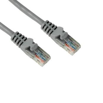 Пач кабел Hama, UTP, CAT5e, 5m, сив, bulk image