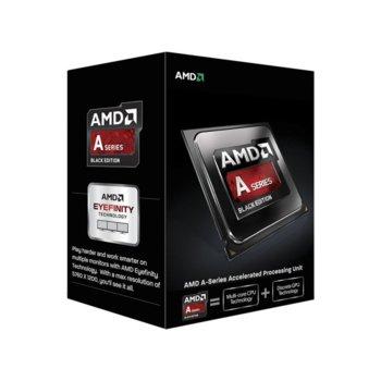 Процесор AMD A4-7300, двуядрен (3.8/4.0GHz, 1MB Cache, 800MHz графична честота, FM2) BOX, с охлаждане image