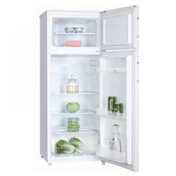 Хладилник с фризер Crown DF 275A, клас А+, 212 л. общ капацитет, свободностоящ, 219 kWh/годишно, LED осветление, бял image