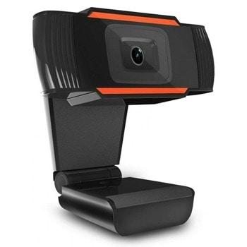 Уеб камера W10, микрофон, 1280x720/ 30FPS, автоматичен баланс на бялото, автоматичен фокус, USB, черна image