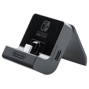 Стойка за зареждане Nintendo Switch Adjustable Charging Stand, регулируема, черна image