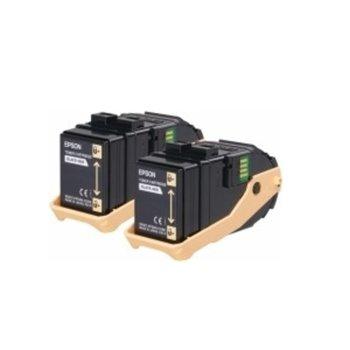 Касета ЗА Epson AcuLaser C9300 - Yellow - Double Pack - AL-C9300N - C13S050606 - заб.: 15 000k image