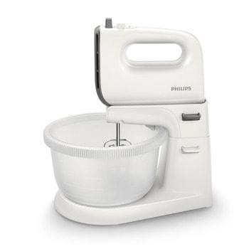 Миксер Philips HR3745/00, 450 W, 5 степени на работа, с турбо, 3 л. обем на купата, бъркалки за тесто, бял image