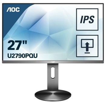 """Монитор AOC U2790PQU, 27"""", IPS панел, 4K 3840x2160, 5 ms, 50M:1, 350 cd/m2, HDMI / DP image"""