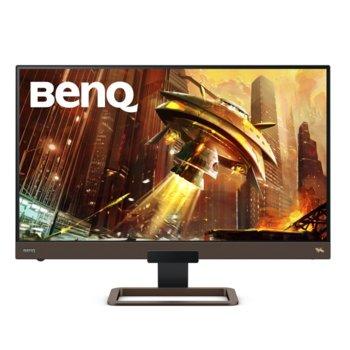 """Монитор BenQ EX2780Q (9H.LJ8LA.TBE), 27"""" (68.58 cm) IPS панел, 144Hz, QHD, 5ms, 20 000 000:1, 350cd/m2, DisplayPort, HDMI, USB Type C image"""