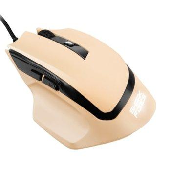 Мишка Sharkoon SHARK Force, оптична (1600DPI), USB, Кремава, LED подсветка image
