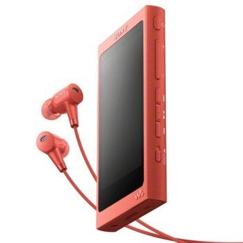 MP3 плейър Sony NW-A45HN, 16GB, Hi-Res Audio, 7.8cm дисплей, NFC/Bluetooth, червен image