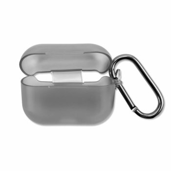 Калъф за слушалки 4Smarts Soft Cover Invisible Slim 4S467817, за Apple AirPods Pro, силиконов, прозрачен-черен image