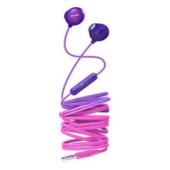 Слушалки Philips UpBeat Earbud, микрофон, лилави image
