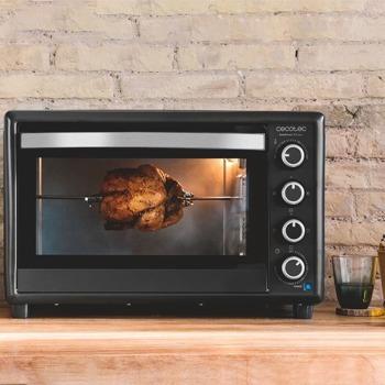 Мини фурна Cecotec BakeToast 750 Gyro, 46 л. обем на фурната, с вътрешна светлина, 12 функции, 2000 W, черна image