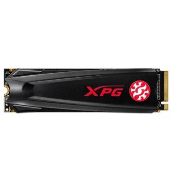 Памет SSD 512GB A-Data XPG GAMMIX S5, NVMe, M.2 2280, скорост на четене 2100 MB/s, скорост на запис 1500 MB/s image