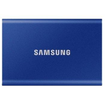 """Памет SSD 500GB Samsung T7 (MU-PC500H), USB-C 3.2, 2.5""""(6.35 cm), скорост на четене 1050 MB/s, скорост на запис 1000 MB/s image"""