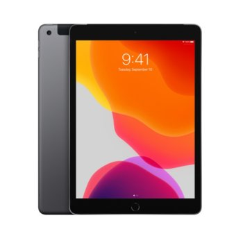 "Таблет Apple iPad 7 10.2"" (MW742HC/A)(Space Grey), Wi-Fi, 10.2"" (25.90 cm) IPS Retina дисплей, четириядрен A10 Fusion 2.34GHz, 2GB RAM, 32GB Flash памет, 8.0 & 1.2 Mpix, iPadOS, 483g image"