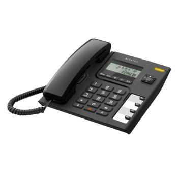 """Стационарен телефон Alcatel Temporis 56, дисплей, функция """"свободни ръце"""", бутон """"mute"""", черен image"""