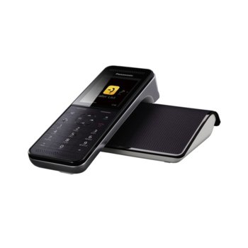 """Безжичен телефон Panasonic KX-PRW110, 2.2""""(5.59 cm) QVGA цветен LCD, черен image"""